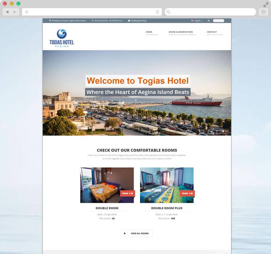Κατασκευή Ιστοσελίδας Ξενοδοχείου Togias