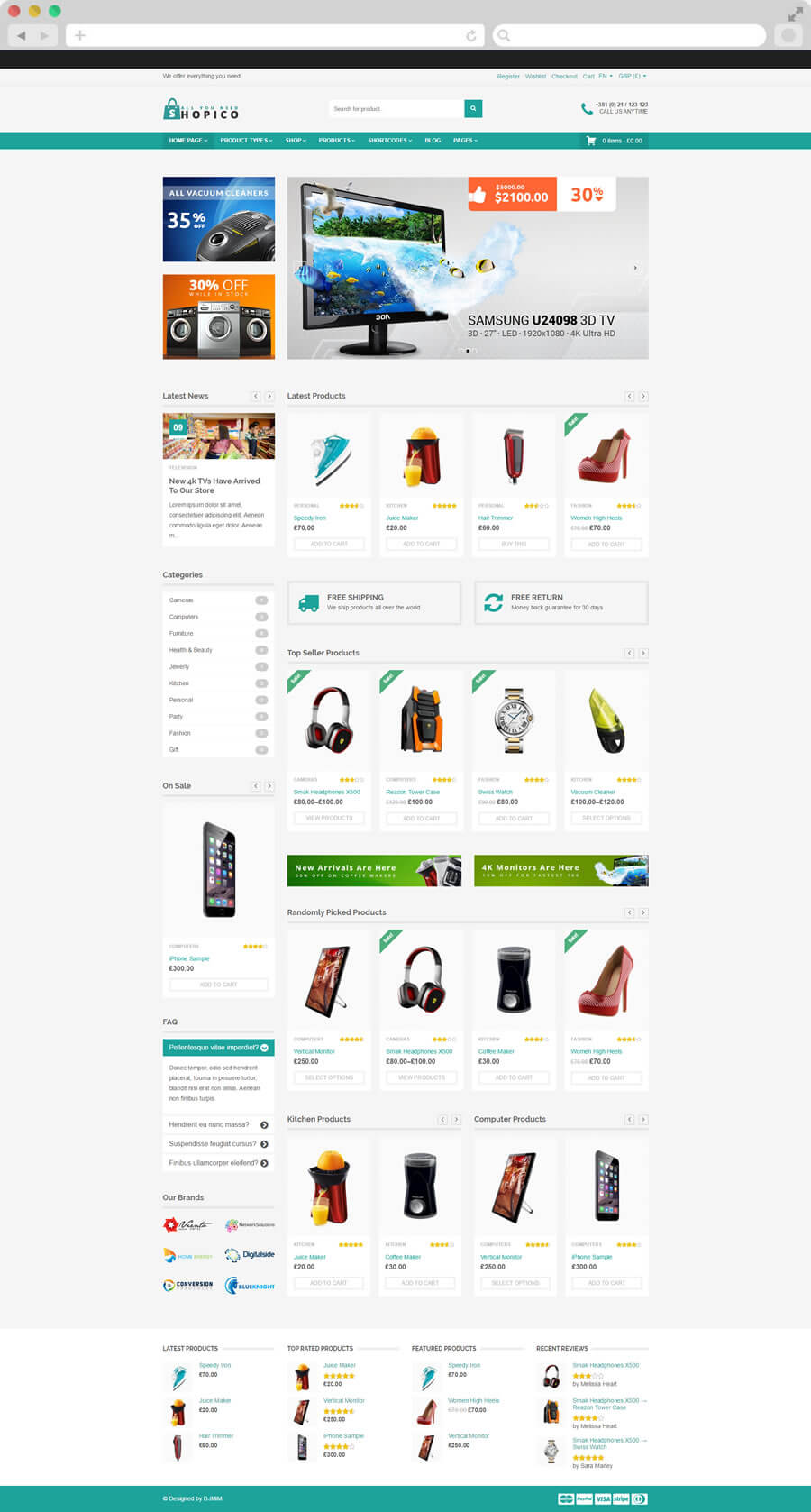 shopico wordpress theme