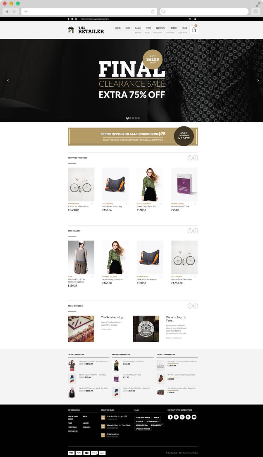 The Retailer Premium WordPress Theme