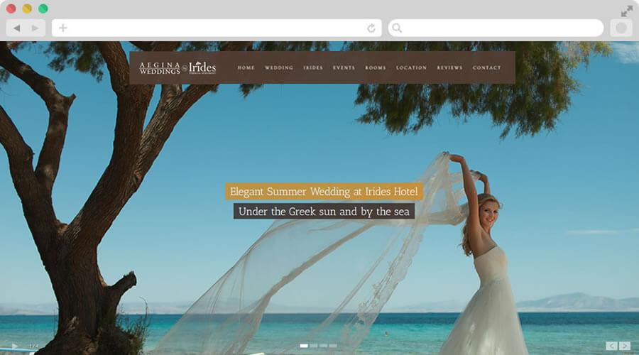 """Κατασκευή Ιστοσελίδας Δεξιώσεις """"Irides Weddings"""""""