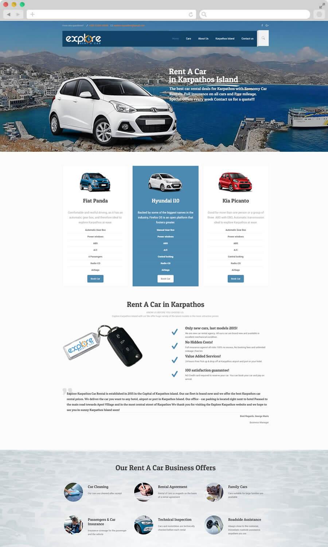 Ενοικιάσεις Αυτοκινήτων Explore Karpathos rent a car